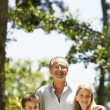 Grandfather with Grandchildren — Stock Photo #33849905