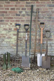 Shovels and Gardening Tools — Stock Photo