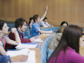 Students in lecture room — Stock Photo