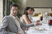 Man at Dinner Party — Stock Photo