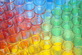 Multi-coloured chemical samples — Stock Photo