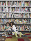 Boy and Girl with Picture Books — Stock Photo
