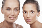 Two Beautiful Women different ages — Stock Photo