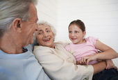 Grandparents With Granddaughter — Stock Photo