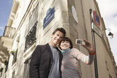 Couple Vacationing in Paris — Stock Photo