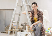 Interior decorator — Stock Photo