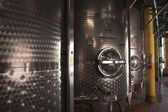 Steel Wine Vats — Stock Photo