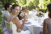 Bride at Wedding Reception — Stock Photo