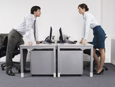 Rival business colleagues — Stock Photo
