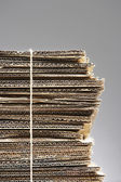 Bundle of corrugated cardboard — Stock Photo
