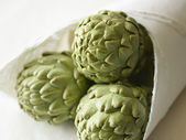 Artichokes in Package — Stock Photo
