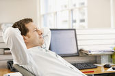 Businessman reclining — Stock Photo
