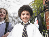 Friends Ready for School — Stock Photo