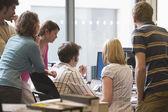 Office workers using computer — Foto de Stock