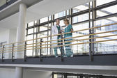 Physicians talking on Balcony — Stock Photo