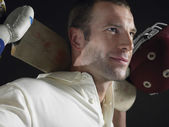 Male Cricket Player — Stock Photo