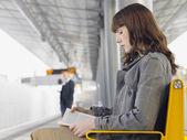 Businesswoman Waiting for Train — Stock Photo