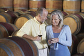 Couple Enjoying a Glass of Wine — Stock Photo