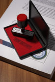 Top Secret Rubber Stamp — Foto Stock