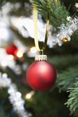 Red bauble — Stock Photo