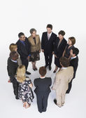 Group of Businesspeople in circle — Stock Photo