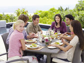 Friends at Dinner Party — Stock Photo