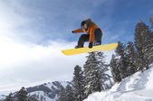 Person on snowboard — Stock Photo