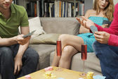 Friends Playing Cards — Stock Photo