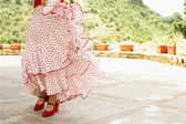 Woman flamenco dancing — Stock Photo