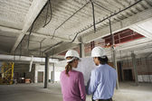 Construction manager and architect — Stock Photo