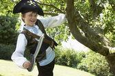 Chłopak sobie strój pirata — Zdjęcie stockowe