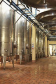 Steel Wine Vats in a Row — Stock Photo