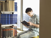 College Student Reading — Stock Photo