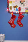 Christmas stocking decorations — Stock Photo