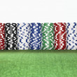 Stacks of gambling chips — Stock Photo