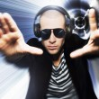 Man wearing headphones — Stock Photo