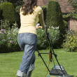 WomMowing Lawn — Stock Photo #33851929