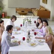 Friends at Dinner Party — Stock Photo #33852693