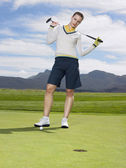 Golfer Standing on Green — Stock Photo