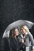 Businesswomen Standing Under Umbrella — Stock Photo