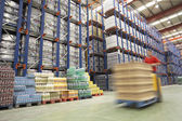 Forklift Driver in Warehouse — Stock Photo