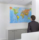 Mappa studio di uomo d'affari — Foto Stock