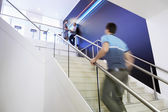 Businessman Walking Up Stairs — Stock Photo