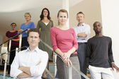 Office Workers Posing — Stock Photo
