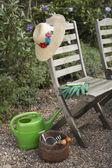 Gardening Tools and Chairs — Stock Photo