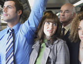 Commuter Standing by Armpit — Stock Photo