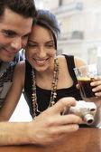 Couple looking at camera — Stock Photo