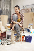 Young female Painter — Stock Photo