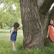 Girls Playing Hide-and-Seek — Stock Photo #33860071