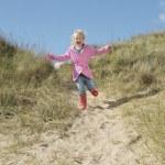 Girl running down — Stock Photo #33864465